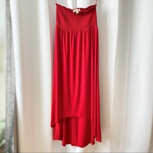 Michael Kors Red Maxi Tube Dress